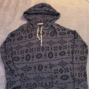 Hollister hooded long sleeve shirt